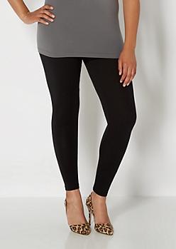 Plus Black Essential Knit Legging