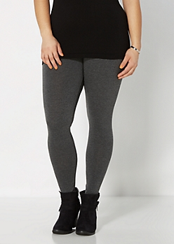 Plus Gray Essential Knit Legging
