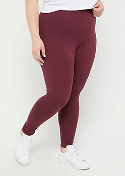Plus Purple High Waist Soft Knit Legging