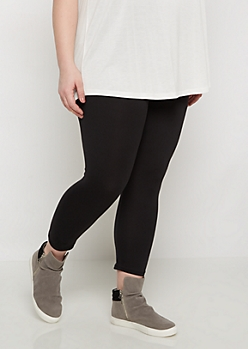 Plus Wide Waistband Cropped Legging