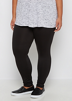 Plus Black Slimming Soft Knit Legging