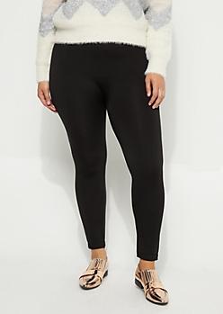 Plus Black Fleece Slimming Legging