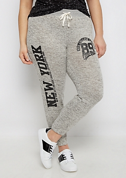 Plus NYC College League Marled Jogger