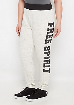 Plus Free Spirit Space Dye Jogger