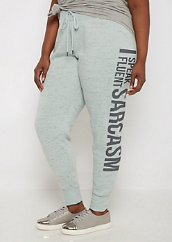 Plus Fluent Sarcasm Space Dye Soft Jogger