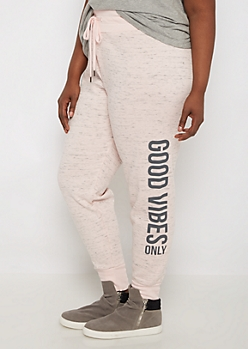 Plus Good Vibes Space Dye Soft Jogger