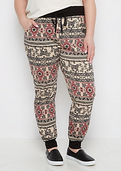 Plus Elephant Henna Knit Jogger