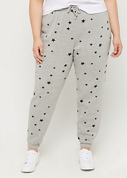 Plus Tossed Star Boyfriend Jogger