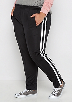 Plus Striped Track Pants