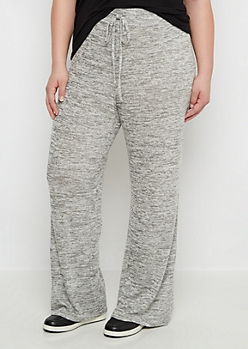 Plus Flared Space Dye Sweatpant