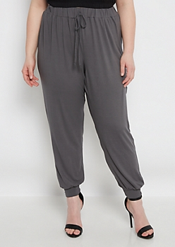 Plus Gray Soft Brushed Jogger
