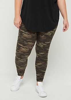 Plus GRL PWR Camo Legging