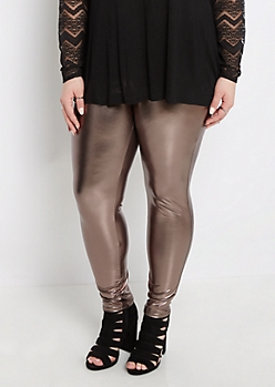 Plus Metallic Stretch Legging