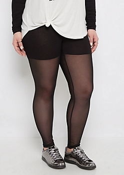Plus Mesh Blocked Active Legging