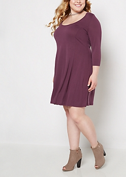 Plus Plum Princess Skater Dress