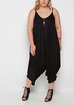 Plus Black Harem Jumpsuit