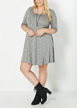 Plus Marled Sweater Tent Dress