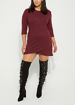 Plus Rib Hacci Knit Dress