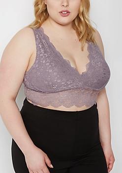Plus Violet Longline Lace Bralette