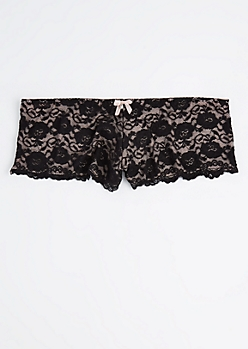 Plus Pink Lace Cheeky Hipster Undie