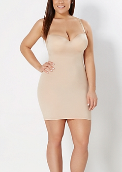 Plus Nude Convertible Full Slip Body Shaper