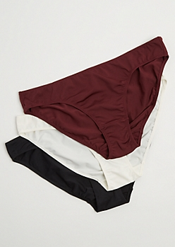 Plus 3-Pack Assorted Microfiber Bikini Undie