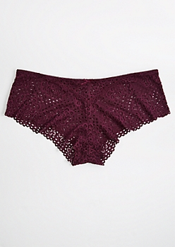 Plus Plum Daisy Crochet Boyleg Undie
