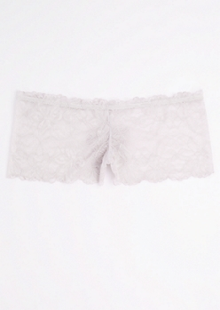 Plus Violet Lace Cheeky Hipster Undie