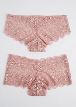 Plus 2-Pack Dusty Pink Bikini Undies