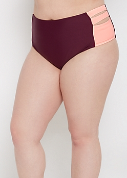 Plus Plum Side Strap Bikini Bottom