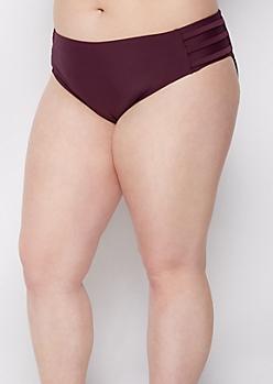 Plus Plum Strappy Bikini Bottom