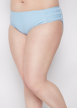 Plus Light Blue Strappy Bikini Bottom