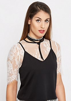 Marquise Gem Wraparound Choker - Wider Fit