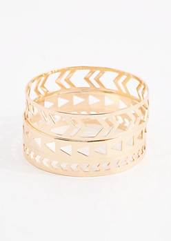 3-Pack Geo Cutout Bracelet - Wider Fit