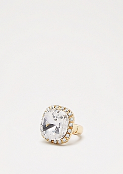 Gemstone Cocktail Ring -Wider Fit