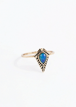Antique Tribal Mood Ring - Wider Fit