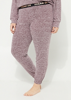 Plus Purple Hacci Knit Jogger