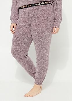 Plus Purple Hacci Knit Jogger
