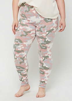 Plus Cozy Camo Legging