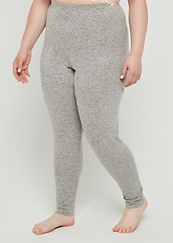 Plus Gray Hacci Legging
