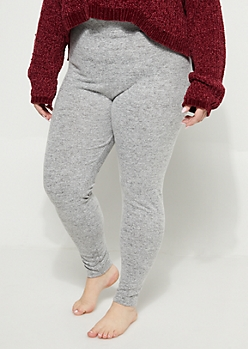 Plus Heather Gray Hacci Legging