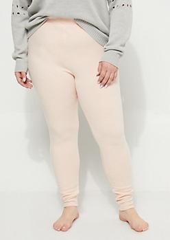 Plus Pink Hacci Legging