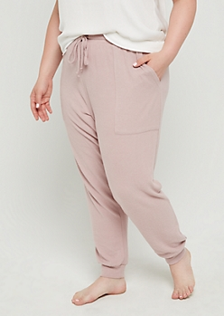 Plus Pink Soft Brushed Boyfriend Jogger