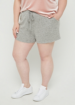 Plus Gray Cozy Short