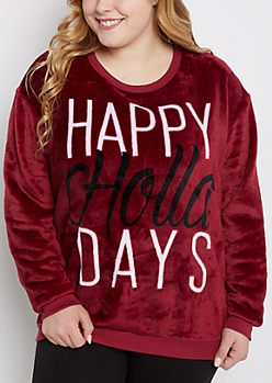 Plus Happy Holla Days Plush Sleep Top