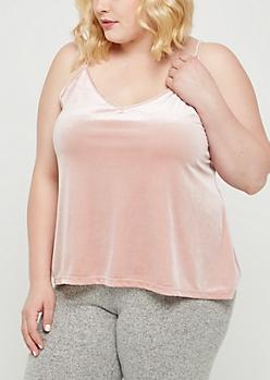 Plus Pink Velvet Cami