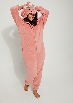 Plus Triceratops Plush Hooded Onesie