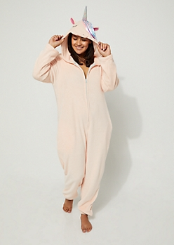 Plus Unicorn Plush Hooded Onesie