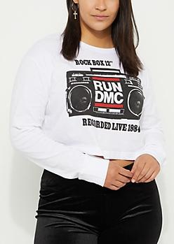 Plus Run DMC Boom Box Crop Tee