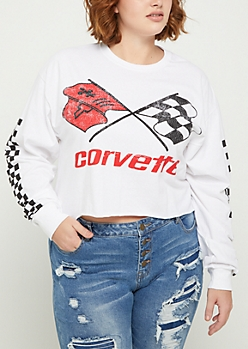 Plus Corvette Race Crop Tee